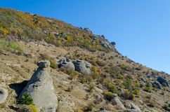 Scenic view from Demerdji to Alushta valley. Crimea Royalty Free Stock Images