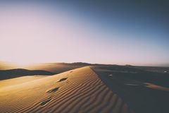 Scenic View of Desert Against Clear Sky Royalty Free Stock Photo
