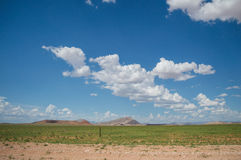 Scenic View of a Desert and Mountain Landscape after the Rain Royalty Free Stock Photography