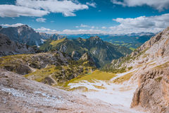Scenic view of Dolomites. Scenic view of Italian Dolomites autumn day Royalty Free Stock Photo