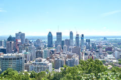 Scenic view of downtown Montreal Royalty Free Stock Image