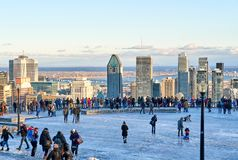 Scenic view of downtown Montreal royalty free stock photo