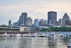 Scenic view of Downtown Montreal stock photos