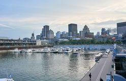 Scenic view of Downtown Montreal stock images