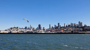Scenic view of downtown San Francisco. View from SF Bay tour boat Stock Photography