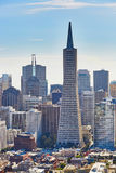 Scenic view of downtown in San Francisco, USA Royalty Free Stock Images