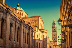 Scenic view of Duomo cathedral and the tower and San Giovanni Ev Royalty Free Stock Photo
