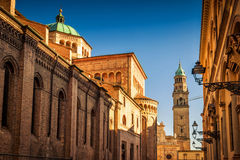 Scenic view of Duomo cathedral and the tower and San Giovanni Ev Royalty Free Stock Image