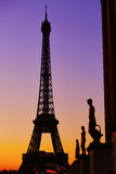 Scenic view of the Eiffel tower during sunrise Stock Image