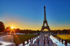 Scenic view of the Eiffel tower during sunrise Stock Photo