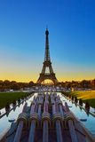 Scenic view of the Eiffel tower during sunrise Royalty Free Stock Image