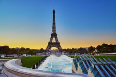 Scenic view of the Eiffel tower during sunrise Stock Photography