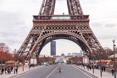 Scenic view  on Eiffel Tower in the winter day. Royalty Free Stock Images