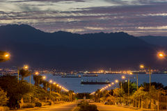 Scenic view on Eilat (Israel) and Aqaba (Jordan) Royalty Free Stock Photography