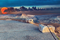 Scenic view on Ein Avdat National Park Royalty Free Stock Photography