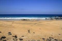 Scenic view El Cotillo beach on Fuerteventura Stock Photography