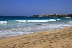 Scenic view El Cotillo beach on Fuerteventura, Stock Images