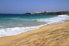Scenic view El Cotillo beach on Fuerteventura, Stock Photography