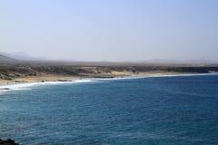 Scenic view El Cotillo beach on Fuerteventura Royalty Free Stock Image