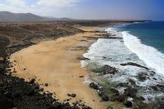 Scenic view El Cotillo beach on Fuerteventura Stock Photo