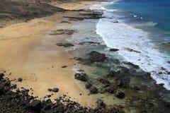 Scenic view El Cotillo beach on Fuerteventura Stock Image