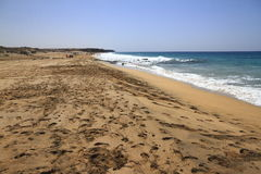 Scenic view El Cotillo beach on Fuerteventura Royalty Free Stock Photography