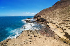 Scenic view of El Medano coastline in South Tenerife, Canary island, Spain. Stock Photo
