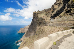 Scenic view of El Medano coastline in South Tenerife, Canary island, Spain. Royalty Free Stock Photography