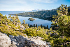 Scenic view of Emerald Bay Lake Tahoe Royalty Free Stock Images