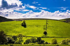 Scenic view on English countryside stock image