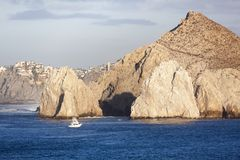 Cabo San Lucas Resort Town Rocks. The scenic view of eroded rocks in Cabo San Lucas resort town Mexico Stock Images