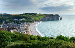 Scenic view of Etretat Stock Photos
