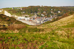 Scenic view of Etretat village in Normandy Royalty Free Stock Photography