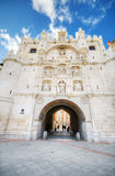 Scenic view of famous ancient arch of st mary in Burgos, Spain Stock Photos