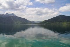 Scenic view over the lake with th royalty free stock photography