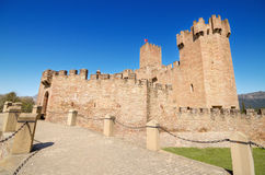 Scenic view of the famous Javier Castle in Navarra, Spain. Royalty Free Stock Images