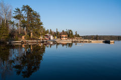 Scenic view of fishermen houses Stock Photography