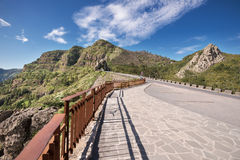 Scenic view of forest and mountains lanscape in La gomera, Canary islands, Spain. Stock Images