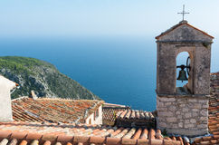 Scenic view of French Riviera town Eze Stock Images