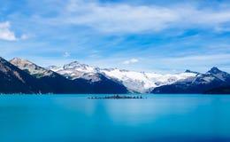 Scenic View of Frozen Lake Against Mountain Range stock photo