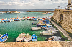 Scenic view of Gallipoli, Salento, Italy Royalty Free Stock Images