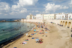 Scenic view of Gallipoli waterfront, Salento, Italy Stock Photography