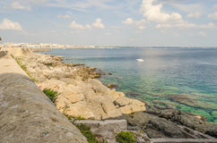 Scenic view of Gallipoli waterfront, Salento, Italy Royalty Free Stock Images