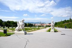 Summer palace Belvedere in Vienna Royalty Free Stock Images