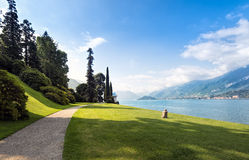 Scenic view of the gardens of Villa Melzi, Bellagio, Lake Como, Royalty Free Stock Images