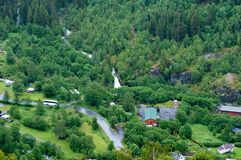 Scenic view of Geiranger Norway Stock Photography