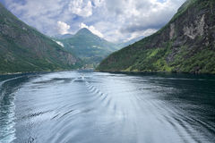 Scenic landscape, Geirangerfjord (Norway) Royalty Free Stock Images