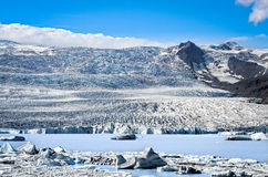 Scenic view of the glacier and lake in Iceland Royalty Free Stock Photography
