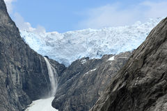 Scenic view of a glacier (Norway) Stock Image