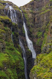Scenic view of The Glymur Waterfall - second highest waterfall o. F Iceland royalty free stock photography